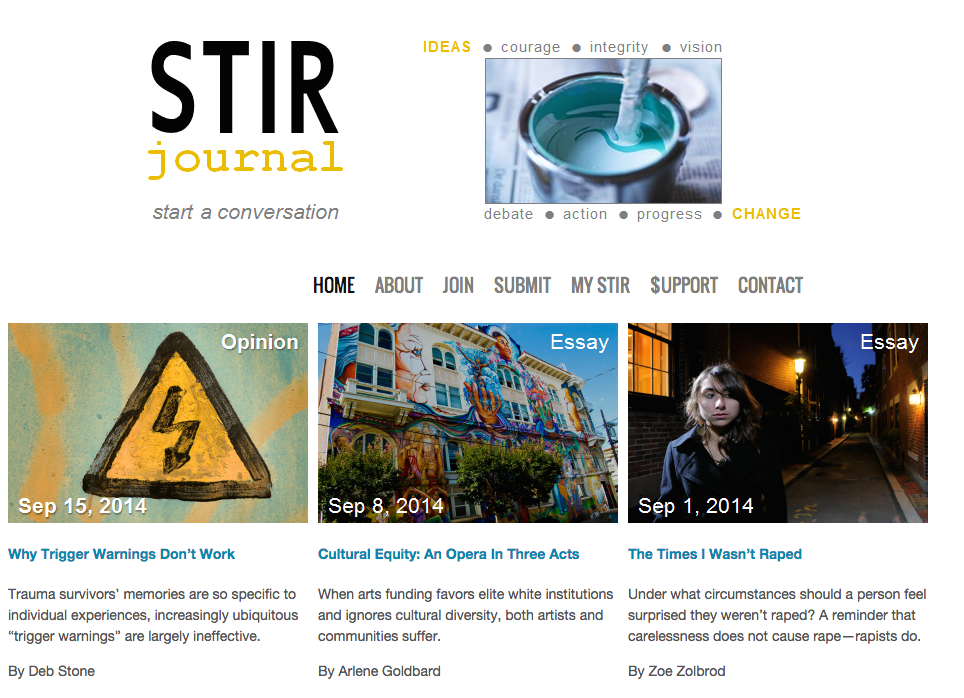 STIR Journal   Start a conversation.